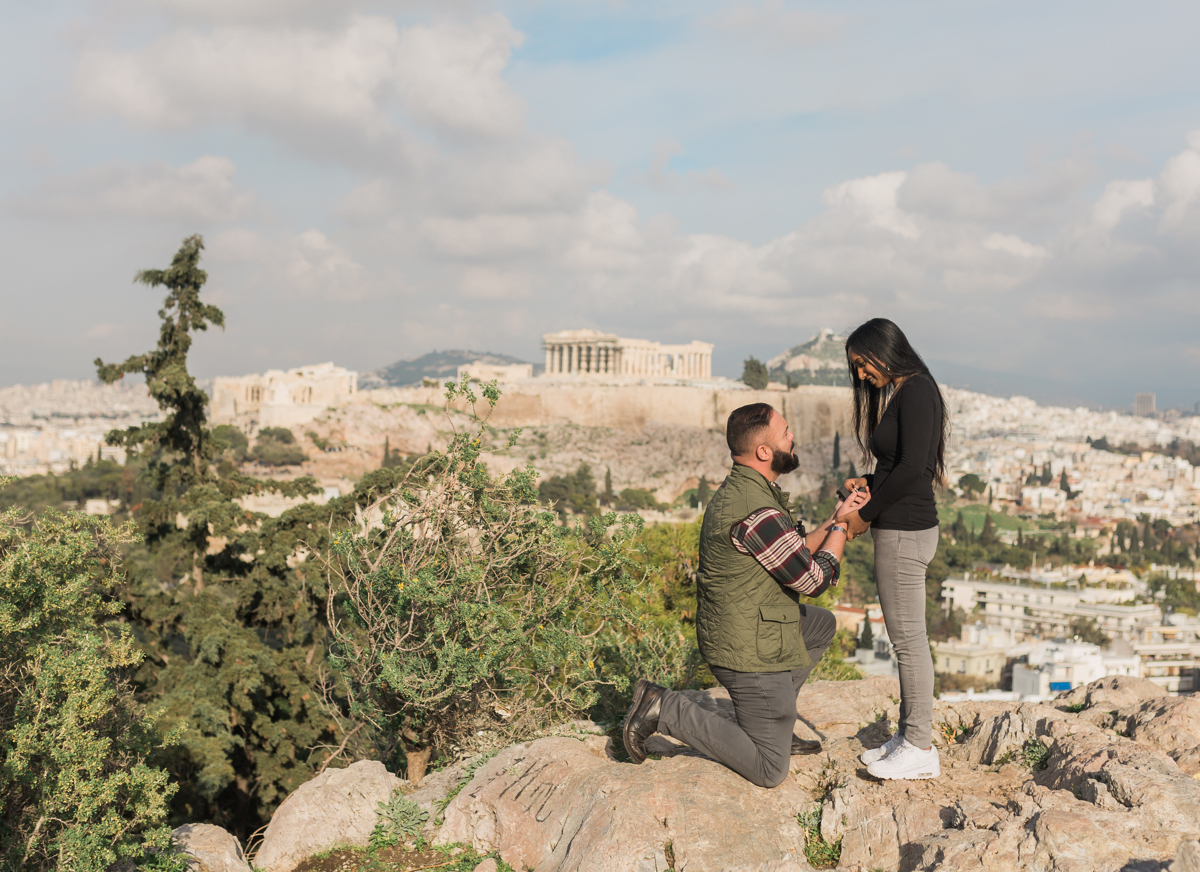 Athens Surprise Proposal & Engagement Photo Shoot