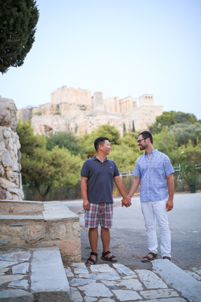 Same Sex honeymoon in Greece