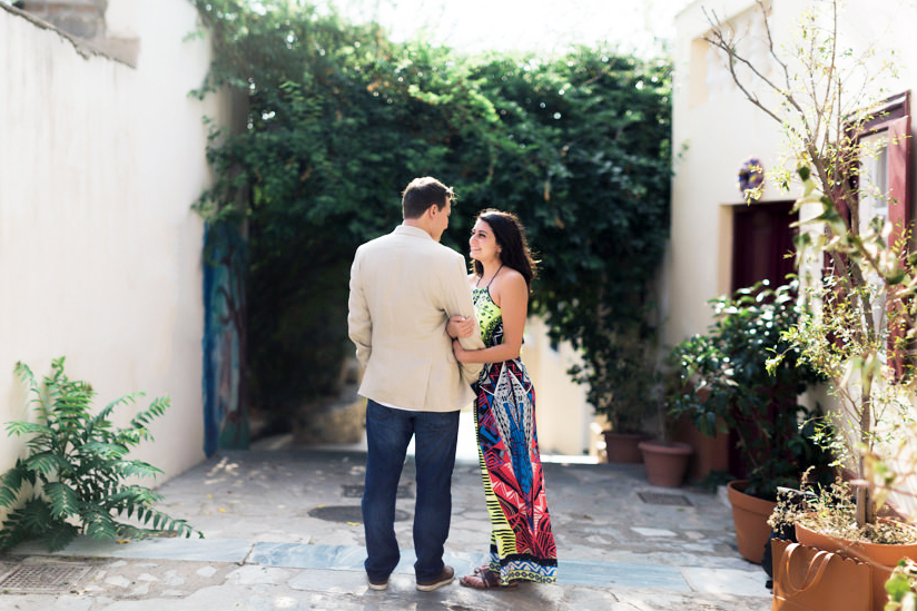 Hugh & Anna | Plaka photoshoot in Athens
