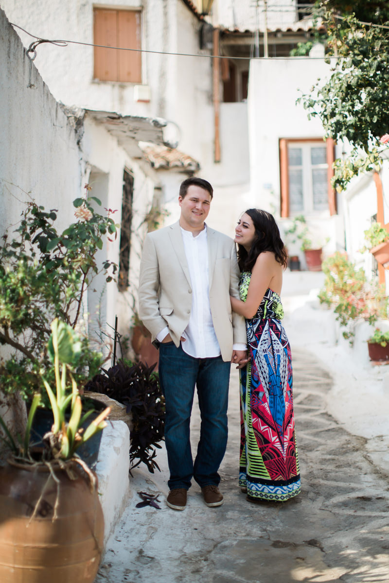 Plaka Photoshoot in Anafiotika, Athens