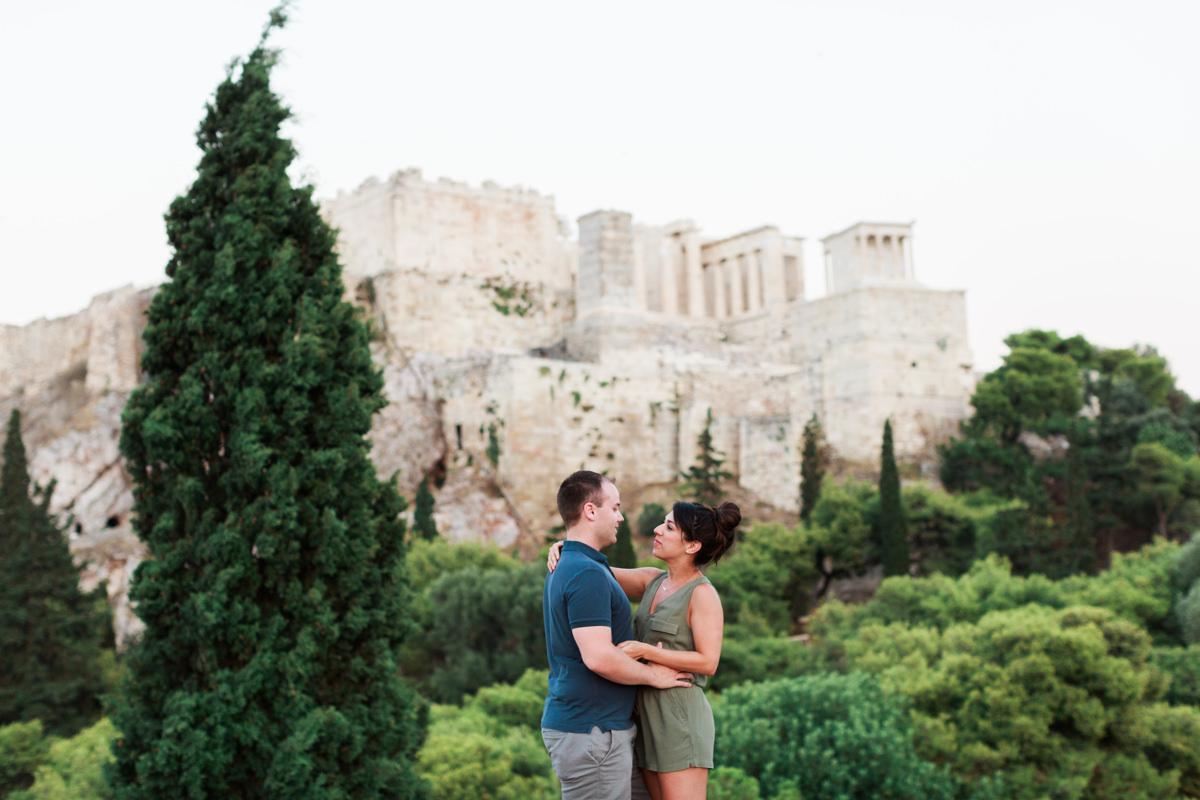Athens photoshoot overlooking Acropolis